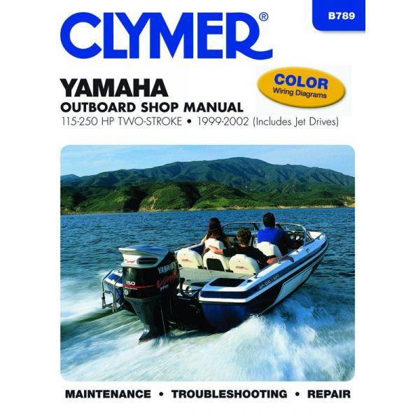 115-250 HP 2-STROKE 99-02 Revue technique Haynes Clymer YAMAHA Anglais