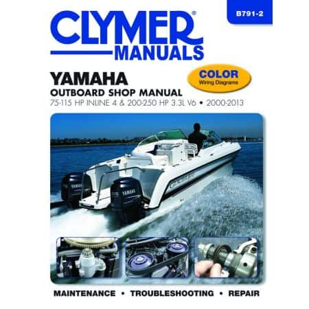 75-115 200-250 HP 00-13 Revue technique Haynes Clymer YAMAHA Anglais