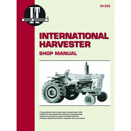 COMPL IH44 IH37 & IH52 Revue technique Clymer HARVESTER Anglais