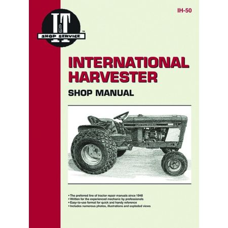 MDLS INTL CUB 154(&184) LO+ Revue technique Clymer HARVESTER Anglais