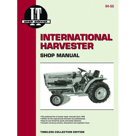 SRS 234,234HYDRO,244,254 Revue technique Clymer HARVESTER Anglais