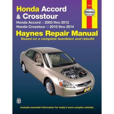 Accord Crosstour 03-12 Crosstour 10-14 Revue technique Haynes HONDA Anglais