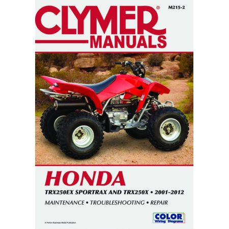 TRX250EX Sportrax & TRX250X 01-12 Revue technique Clymer HONDA Anglais