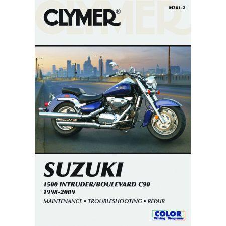 1500 Intruder/Boulevard C90 98-09 Revue technique Clymer SUZUKI Anglais