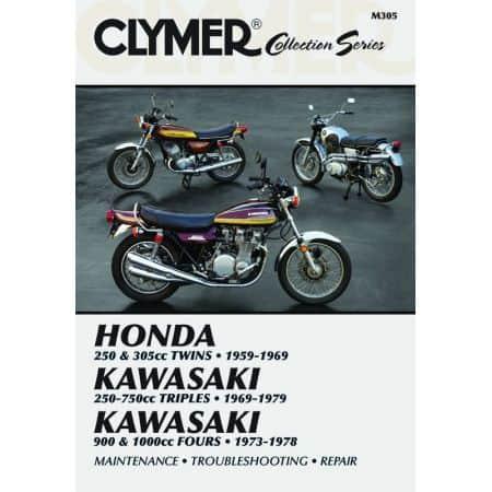 Vintage Japanese Street Bikes Revue technique Clymer Anglais