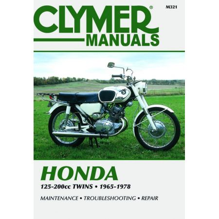 125-200cc Twins 65-78 Revue technique Clymer HONDA Anglais