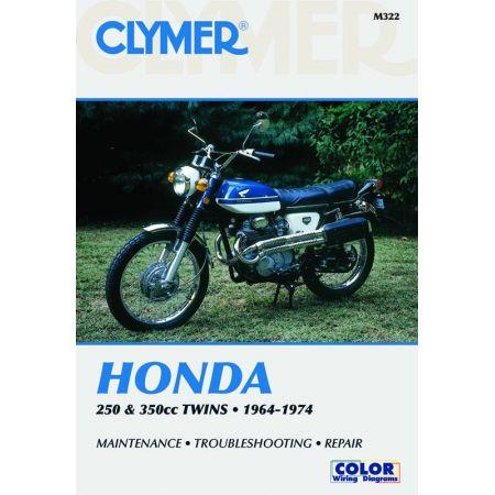 250-350cc Twins 64-74 Revue technique Clymer HONDA Anglais