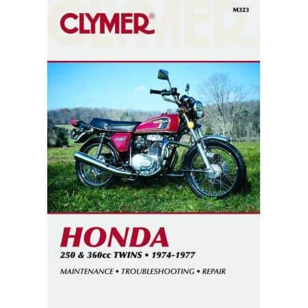250 & 360cc Twins 74-77 Revue technique Clymer HONDA Anglais