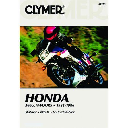 500cc V-Fours 84-86 Revue technique Clymer HONDA Anglais