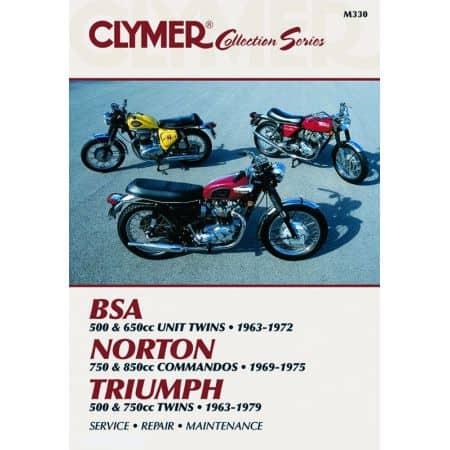 Vintage British Street Bikes Revue technique Clymer Anglais