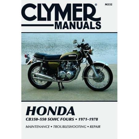 350-550cc Fours 72-78 Revue technique Clymer HONDA Anglais