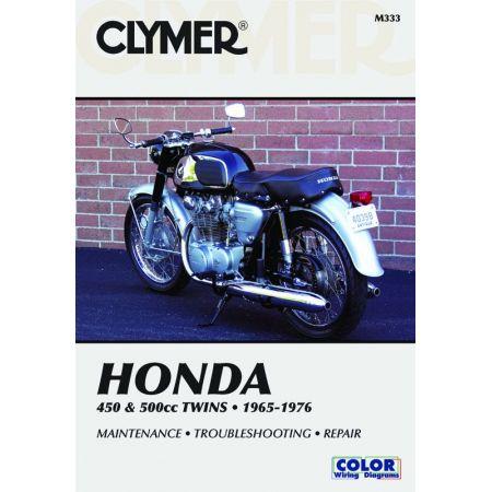 450 & 500cc Twins 65-77 Revue technique Clymer HONDA Anglais