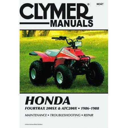 4trax 200SX ATC 200X 86-88 Revue technique Clymer HONDA Anglais