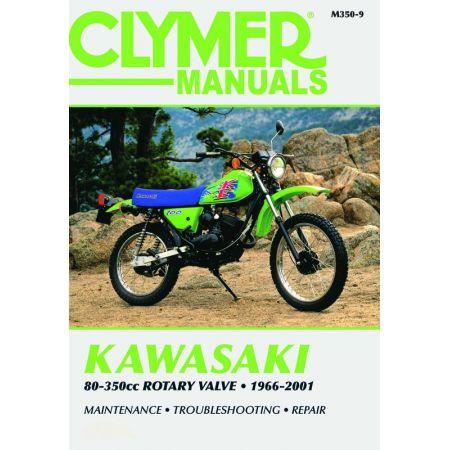 80-350cc Rotary Valve 96-01 Revue technique Clymer KAWASAKI Anglais