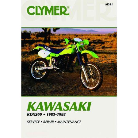 KDX 200 83-88 Revue technique Clymer KAWASAKI Anglais