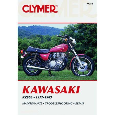 KZ650 77-83 Revue technique Clymer KAWASAKI Anglais