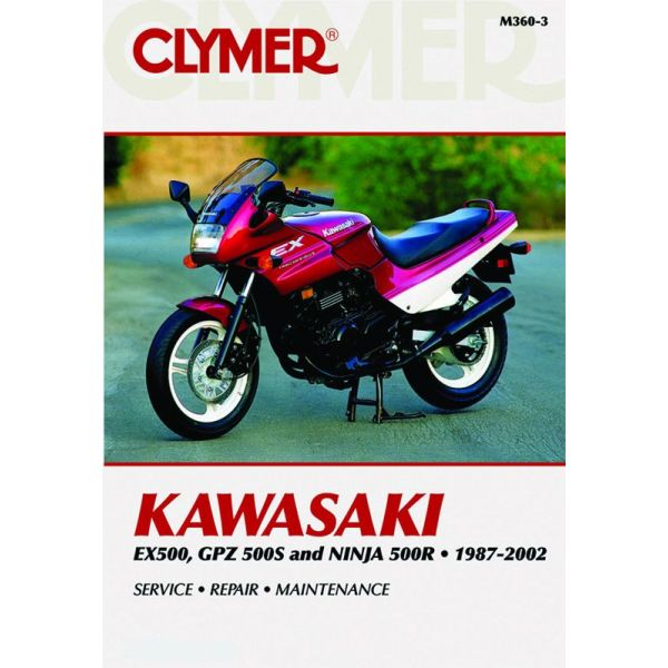 kawasaki ex500 gpz500s nina 500r 1987 2002 rclym360 3 revue technique haynes clymer anglais. Black Bedroom Furniture Sets. Home Design Ideas