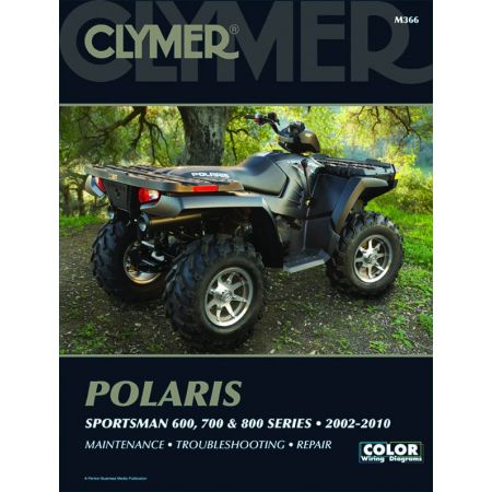 Sportsman 600, 700, & 800 Series 02-10 Revue technique Clymer POLARIS Anglais