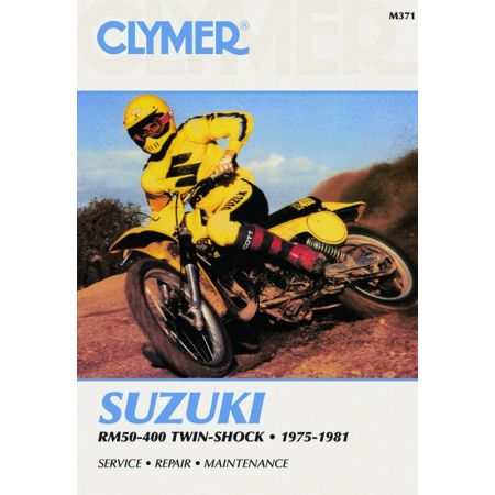 RM 50-400 Twin-Shock 75-81 Revue technique Clymer SUZUKI Anglais