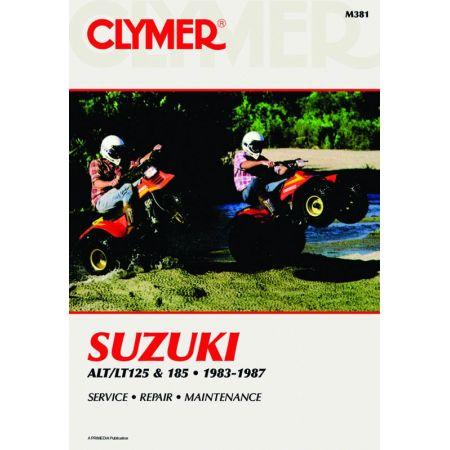 ALT-LT 125 - 185 83-87 Revue technique Clymer SUZUKI Anglais