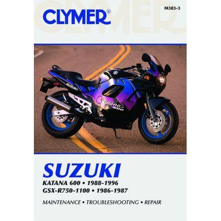 GSX-R 750-1100 86-96 Revue technique Clymer SUZUKI Anglais