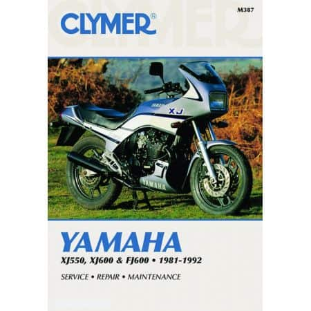 XJ 550 & FJ 600 81-92 Revue technique Clymer YAMAHA Anglais