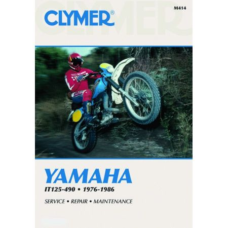 IT 125-490 76-86 Revue technique Clymer YAMAHA Anglais