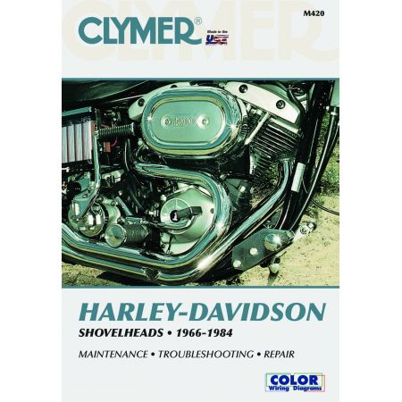 SHOVELHEADS 66-84 Revue technique Clymer HARLEY Anglais