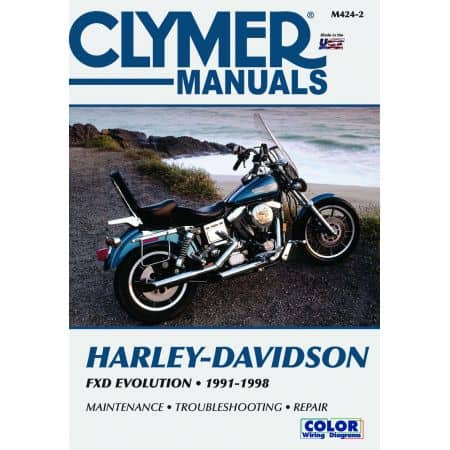 FXD Dyna Wide Glide Convertible 91-98 Revue technique Clymer HARLEY Anglais