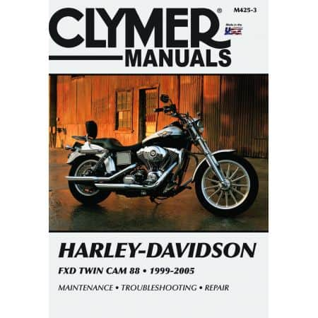 FXDWG FXDWGI Dyna Super Glide 99-05 Revue technique Clymer HARLEY Anglais