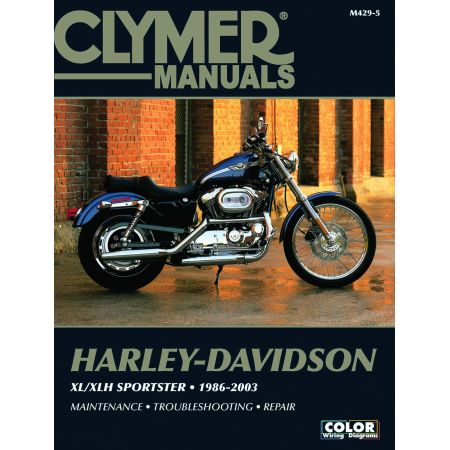 XL/XLH Sportster Evolution 86-03 Revue technique Clymer HARLEY Anglais