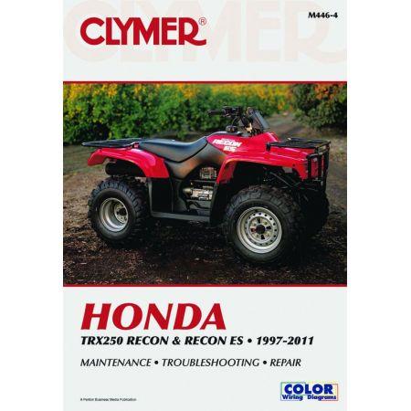 TRX250 Recon ES 97-11 Revue technique Clymer HONDA Anglais