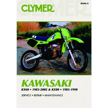 KX60 83-02 - KX80 83-90 Revue technique Clymer KAWASAKI Anglais