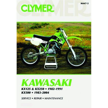 KX125 KX250 KX500 82-04 Revue technique Clymer KAWA Anglais