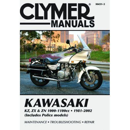 KZ, ZX , ZN 1000-1100cc 81-02 Revue technique Clymer KAWASAKI Anglais