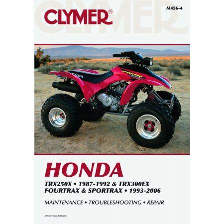 TRX250X 87-92 & TRX300EX Fourtrax Sportrax 93-06 Revue technique Clymer HONDA Anglais