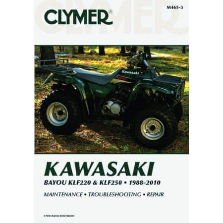 Bayou KLF220 & KLF250 88-10 Revue technique Clymer KAWASAKI Anglais