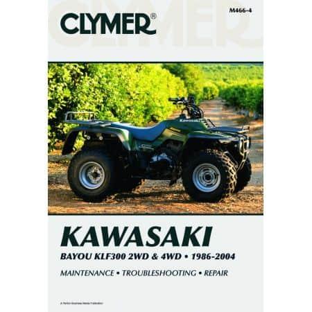 Bayou KLF300 2WD & 4WD 89-04 Revue technique Clymer KAWASAKI Anglais
