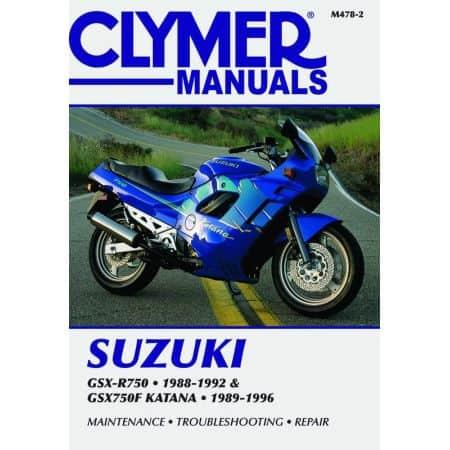 GSX-R - GSX-F 750 Katana 88-96 Revue technique Clymer SUZUKI Anglais