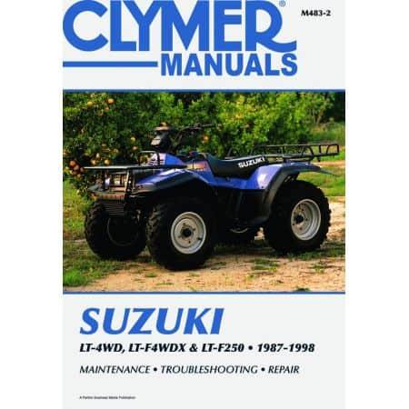LT-4WD, LT-WDX LT-F250 87-98 Revue technique Clymer SUZUKI Anglais