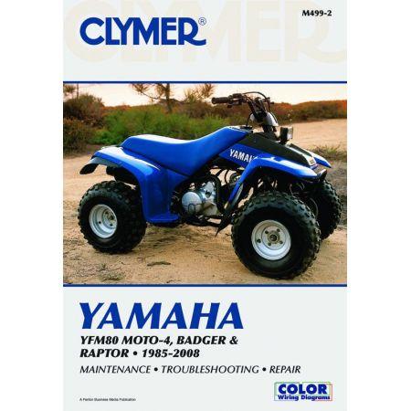 YFM80 MOTO-4, Badger & Raptor 01-08 Revue technique Clymer YAMAHA Anglais