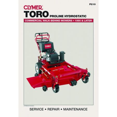 Walk-Behind Mower Revue technique Haynes Clymer TORO Anglais
