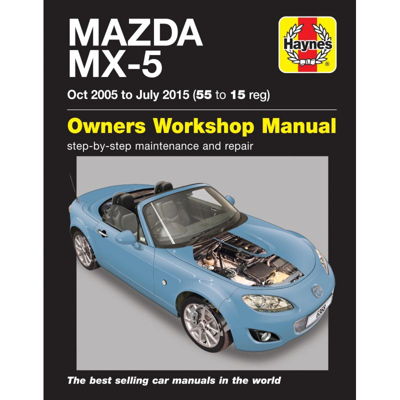 mazda mx 5 mk3 oct 2005 july 2015 1 8 2 0 models rth6368 revue technique haynes anglais. Black Bedroom Furniture Sets. Home Design Ideas