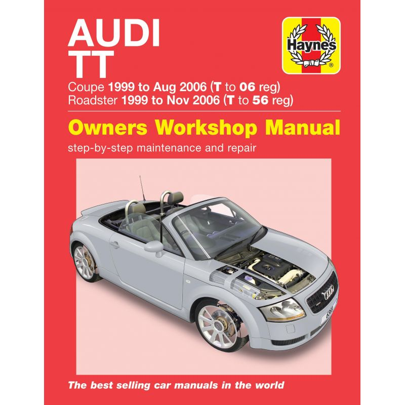 audi tt mk1 1999 2006 1 8 turbo 2wd 4wd rth6369 revue technique haynes anglais. Black Bedroom Furniture Sets. Home Design Ideas