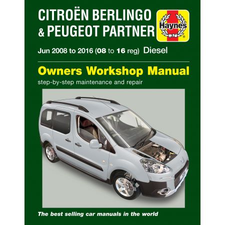 Berlingo-Partner 08-16 Revue Technique Haynes PEUGEOT CITROEN Anglais