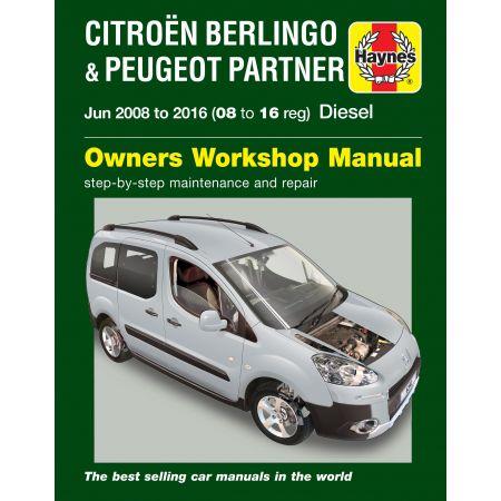 Berlingo-Partner 08-16 Revue Technique Haynes PEUGEOT CITROEN Anglais