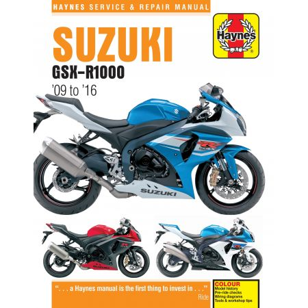 GSX-R 1000 09-16 Revue technique Haynes SUZUKI Anglais
