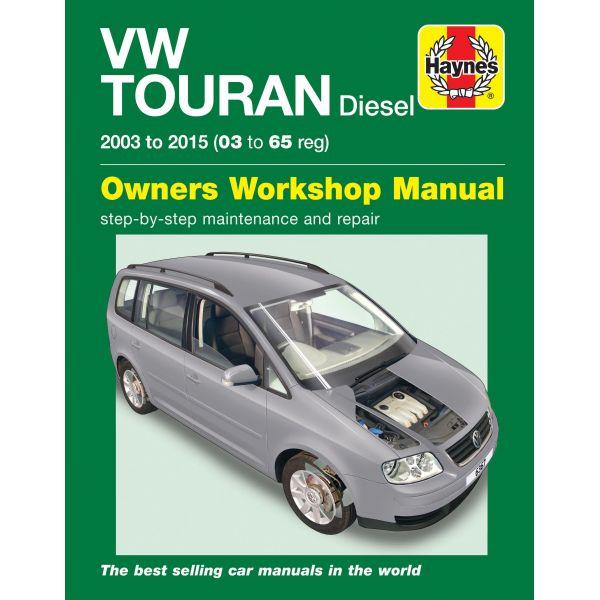 vw volkswagen touran diesel 2003 2015 rth6367 revue technique haynes anglais. Black Bedroom Furniture Sets. Home Design Ideas