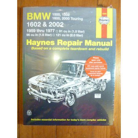 1602 & 2002 59-77 Revue technique Haynes BMW Anglais