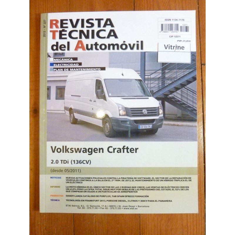 vw volkswagen crafter depuis 05 2011 en espagnol diesel 2 0 tdi 136cv rta0227esp. Black Bedroom Furniture Sets. Home Design Ideas